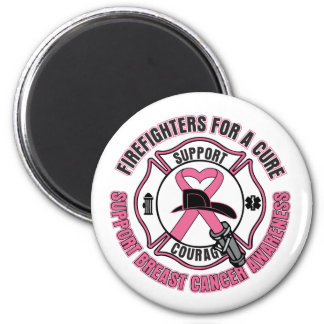 Firefighters For A Cure Breast Cancer 2 Inch Round Magnet