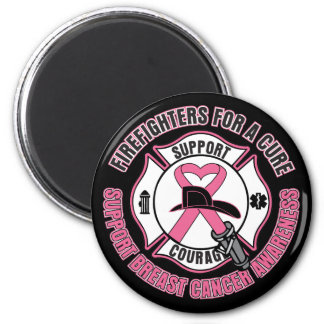 Firefighters For A Cure Breast Cancer Magnets