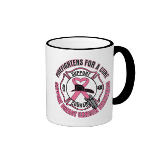 Firefighters For A Cure Breast Cancer Coffee Mug