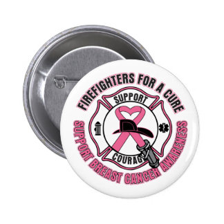 Firefighters For A Cure Breast Cancer Pinback Button