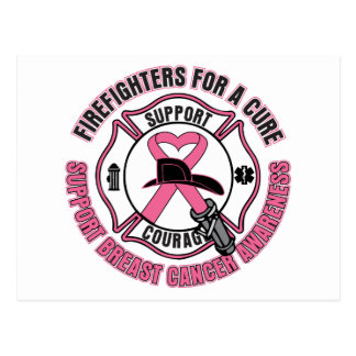 Firefighters For A Cure Breast Cancer Postcards