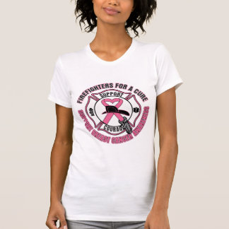 Firefighters For A Cure Breast Cancer Tee Shirt