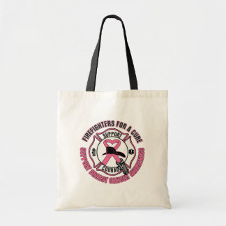 Firefighters For A Cure Breast Cancer Tote Bags