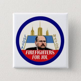 Firefighters for Joe Lhota NYC Mayor 2013 Button