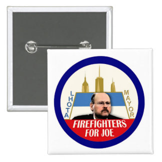 Firefighters for Joe Lhota NYC Mayor 2013 Button