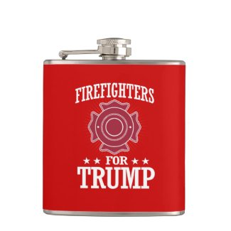 FIREFIGHTERS FOR TRUMP FLASK