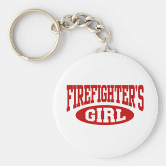 Firefighter's Girl Basic Round Button Keychain