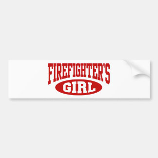 Firefighter's Girl Bumper Stickers