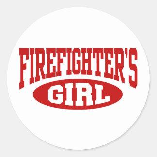 Firefighter's Girl Sticker