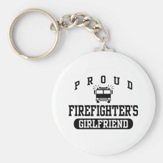 Firefighter's Girlfriend Basic Round Button Keychain