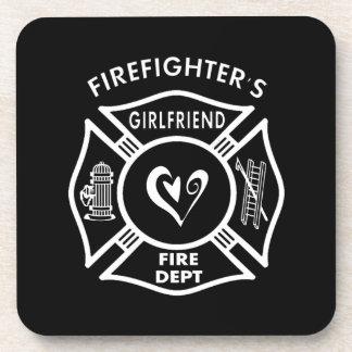 Firefighters Girlfriend Beverage Coaster