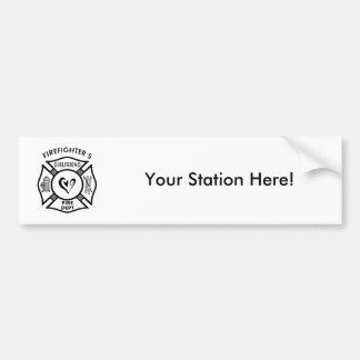 Firefighters Girlfriend Car Bumper Sticker
