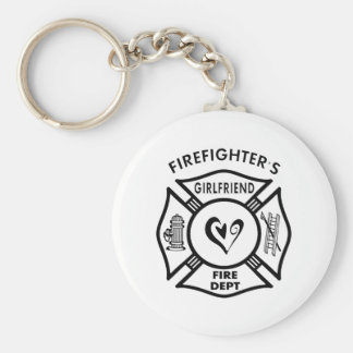 Firefighter's Girlfriend Keychain