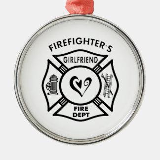 Firefighter's Girlfriend Metal Ornament