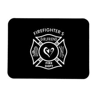 Firefighter's Girlfriend Rectangular Photo Magnet