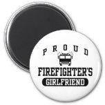 Firefighter's Girlfriend Refrigerator Magnets