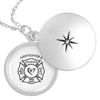 Firefighter's Girlfriend Round Locket Necklace