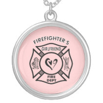 Firefighter's Girlfriend Silver Plated Necklace