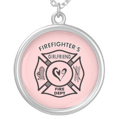 necklace ffclo girlfriend plated dp firefighter jewelry com amazon