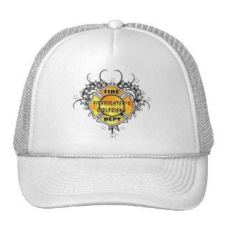 Firefighters Girlfriend Tattoo Trucker Hat
