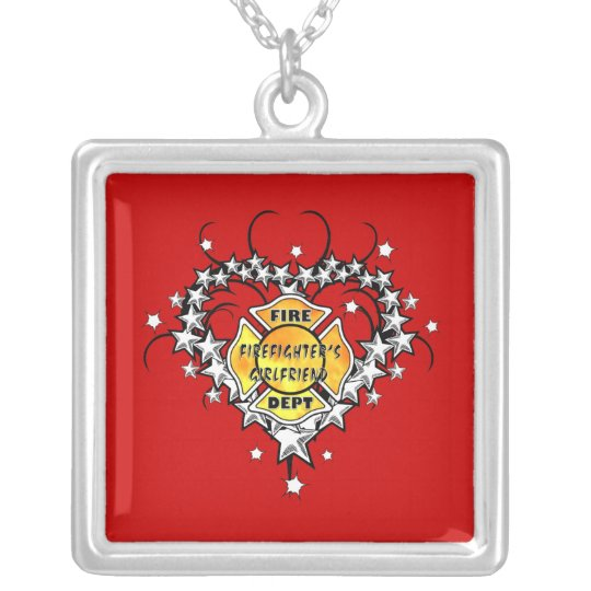 fire department wife american badge necklace gift firefighter fireman shield maltese girlfriend cross