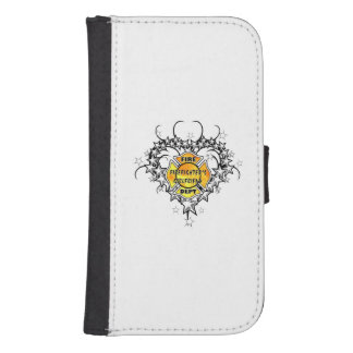 Firefighters Girlfriend Tattoo Wallet Phone Case For Samsung Galaxy S4
