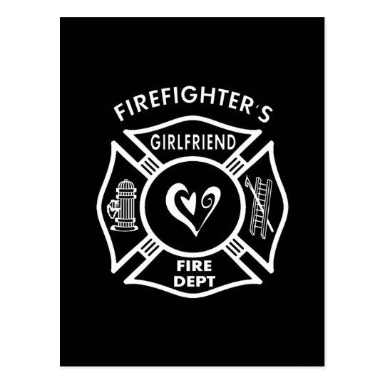 Firefighters Girlfriends Postcard
