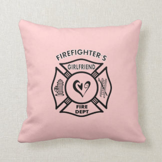 Firefighters Girlfriends Throw Pillow
