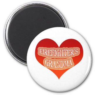 Firefighter's Grandma 2 Inch Round Magnet