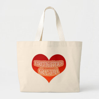 Firefighter's Grandma Large Tote Bag