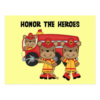 Firefighters Honor the Heroes Tshirts and Gifts Postcard