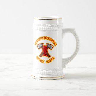 Firefighters Kick Ash Beer Stein