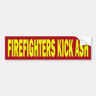 FIREFIGHTERS KICK ASH - BUMPER STICKER CAR BUMPER STICKER