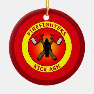 FIREFIGHTERS KICK ASH ORNAMENT