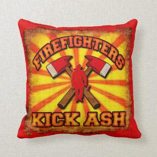 Firefighters Kick Ash Throw Pillow