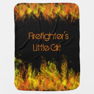 Firefighter's Little Girl or Boy Baby Blanket