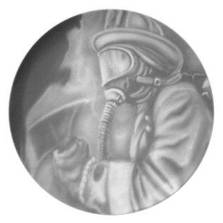 Firefighters Melamine Plate