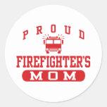 Firefighter's Mom Classic Round Sticker