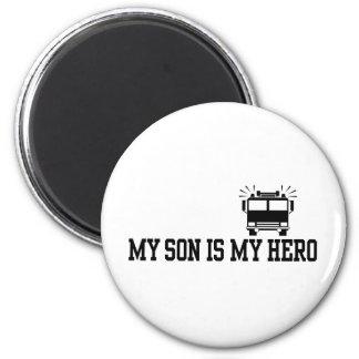 Firefighter's Mom Dad Fridge Magnet