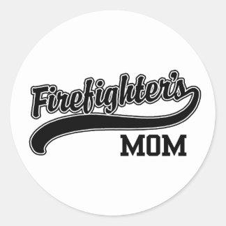 Firefighter's Mom Round Sticker