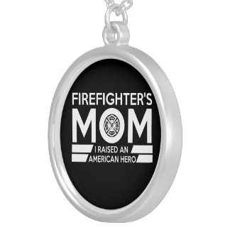 Firefighter's Mom Silver Plated Necklace