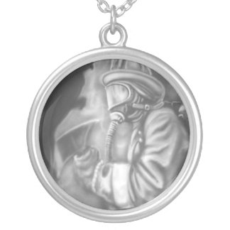 Firefighters of the World Round Pendant Necklace