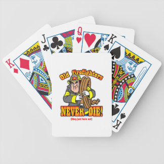 Firefighters Bicycle Playing Cards