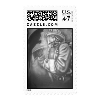 firefighters postage stamp