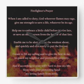 Firefighter's Prayer CLock