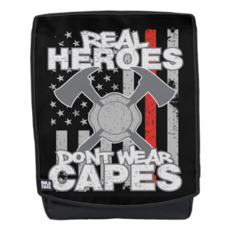 Firefighters Real Heroes Don't Wear Capes Backpack