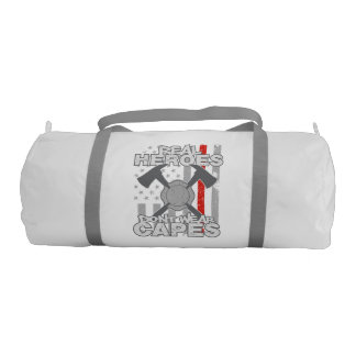 Firefighters Real Heroes Don't Wear Capes Gym Bag