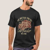 Firefighters Rescue Team Vintage Style Fire T-Shirt