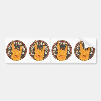 Firefighters Rock! Bumper Sticker