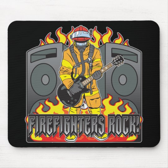 Firefighters Rock Guitar Mouse Pad